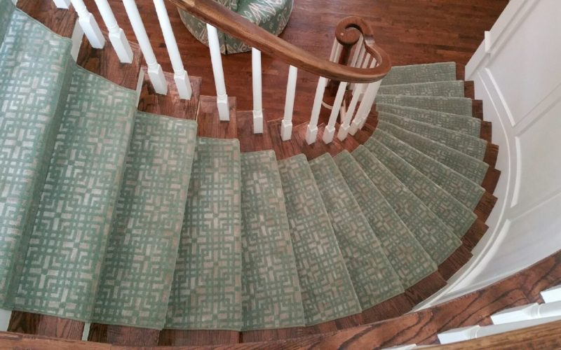 Custom Silk & Wool Tibetan Stairway